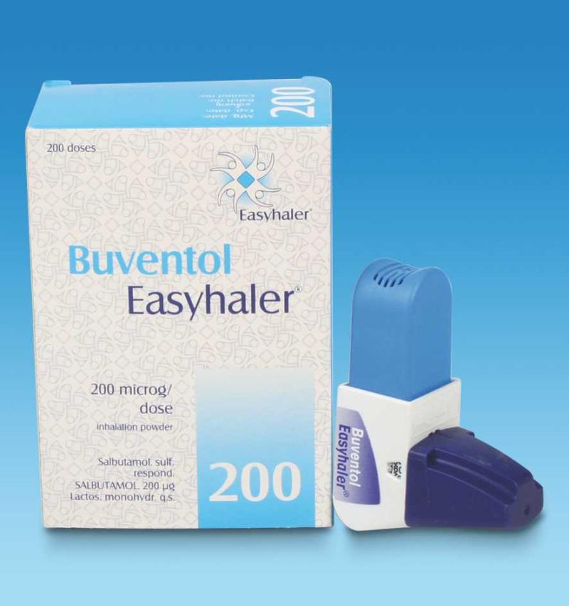 Buventol Easyhaler powd for inhalation soln 200 mcg